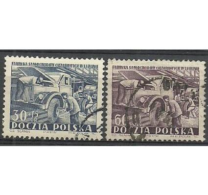 Znaczek Polska 1953 Mi 793-794 Fi 655-656 Stemplowane