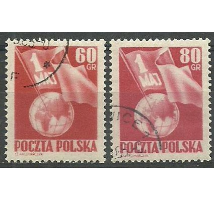 Znaczek Polska 1953 Mi 797-798A Fi 659-660 Stemplowane