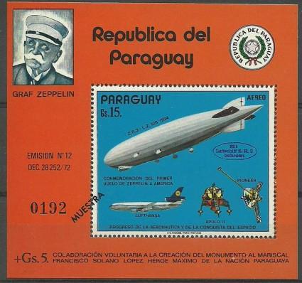 Znaczek Paragwaj 1975 Mi spe bl 246 Czyste **