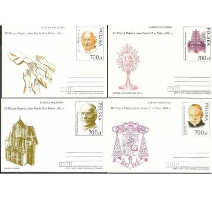 Znaczek Polska 1991 Fi Cp 1015-1018 Całostka pocztowa