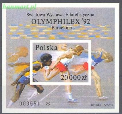 Znaczek Polska 1992 Mi bl 118B Fi bl 148A Czyste **
