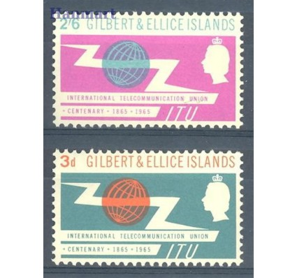 Znaczek Gilbert Ellice Islands 1965 Mi 82-83 Czyste **