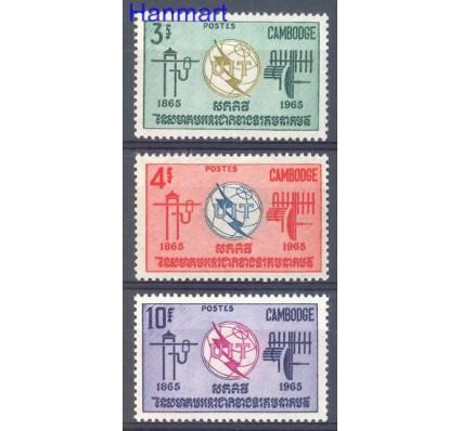 Znaczek Kambodża 1965 Mi 189-191 Czyste **