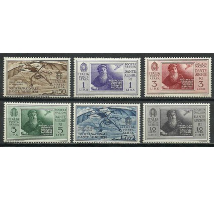 Znaczek Włochy 1932 Mi 385-390 Z podlepką *