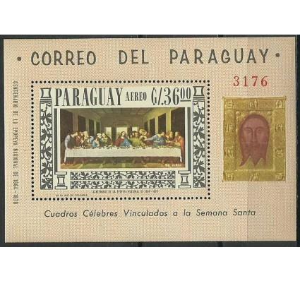 Znaczek Paragwaj 1967 Mi bl 97 Czyste **