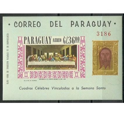 Znaczek Paragwaj 1963 Mi bl 98 Czyste **