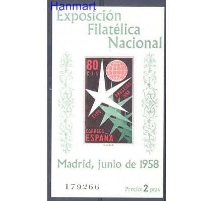 Znaczek Hiszpania 1958 Mi bl 13 Czyste **