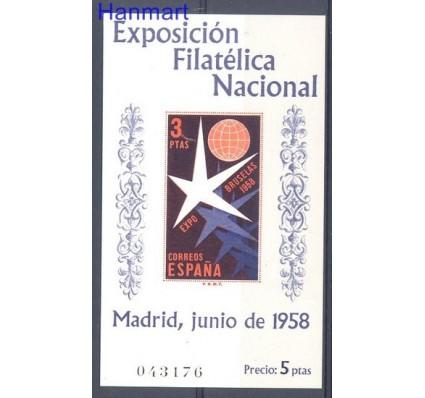 Znaczek Hiszpania 1958 Mi bl 14 Czyste **