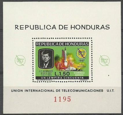 Znaczek Honduras 1968 Mi bl 12 Czyste **