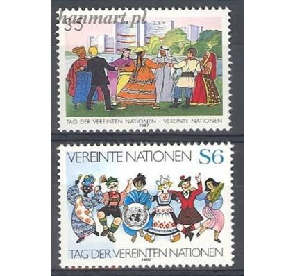 Narody Zjednoczone Wiedeń 1987 Mi 75-76 Czyste **