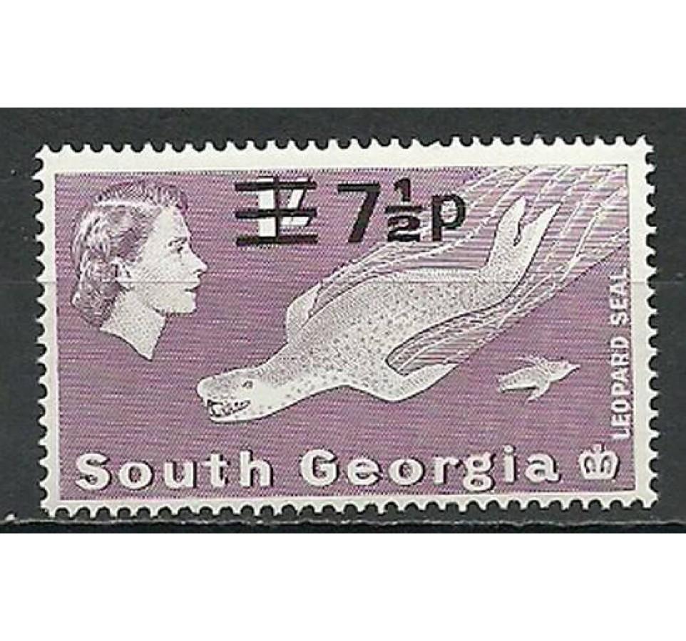 Georgia Południowa i Sandwich Południowy 1971 Mi 34 Czyste **