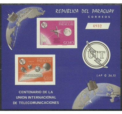 Znaczek Paragwaj 1965 Mi bl 74 Czyste **