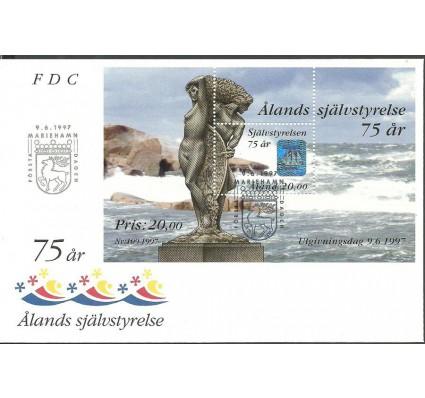 Znaczek Wyspy Alandzkie 1997 Mi bl 3 FDC