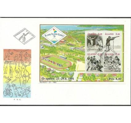 Znaczek Wyspy Alandzkie 1991 Mi bl 1 FDC