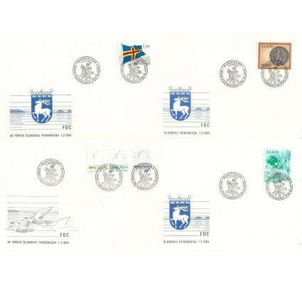 Znaczek Wyspy Alandzkie 1984 Mi 1-3+4+5+6 FDC