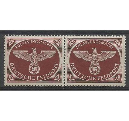 Znaczek Deutsches Reich / III Rzesza 1942 Mi 2-Feld Czyste **