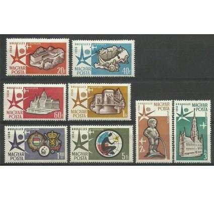 Znaczek Węgry 1958 Mi 1519-1526 Z podlepką *