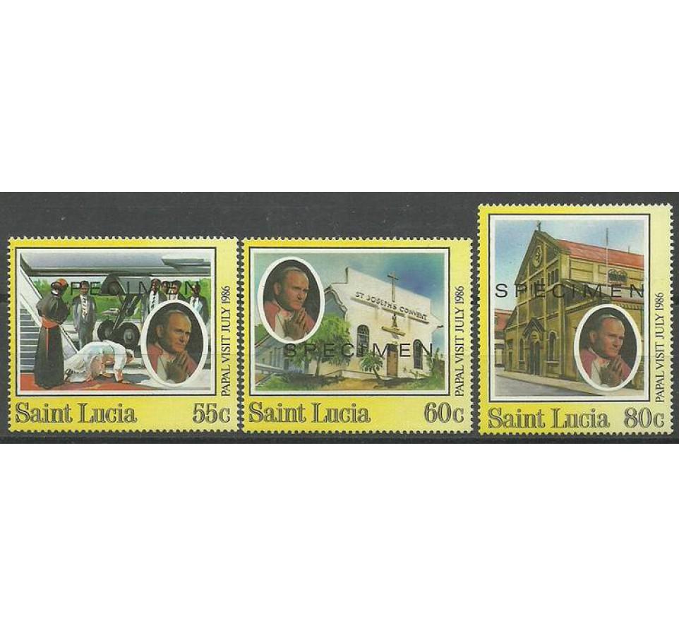 Saint Lucia 1986 Mi spe 844-846 Czyste **