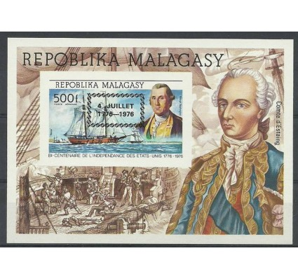 Znaczek Madagaskar 1976 Mi bl 14B  Czyste **