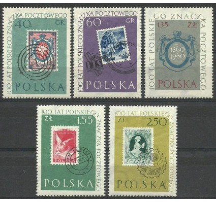 Znaczek Polska 1960 Mi 1151-1155 Fi 1007-1011 Z podlepką *