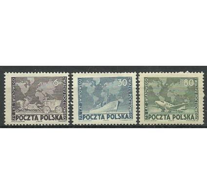 Znaczek Polska 1949 Mi 533-535 Fi 498-500 Z podlepką *