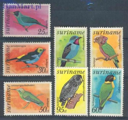 Znaczek Surinam 1977 Mi 764-770 Czyste **