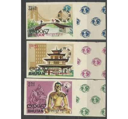 Znaczek Bhutan 1967 Mi 149-151B Czyste **