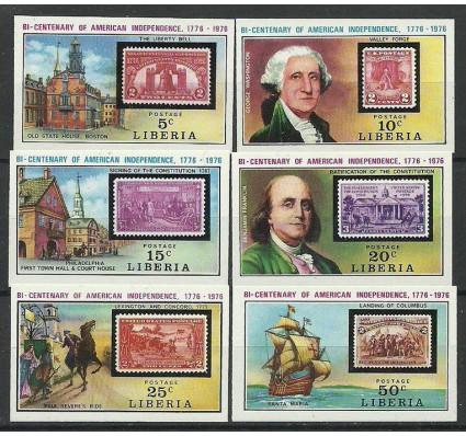 Znaczek Liberia 1975 Mi 953-958B Czyste **