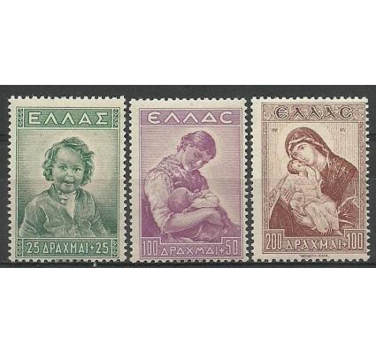 Znaczek Grecja 1943 Mi 482-484 Czyste **