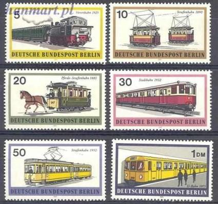 Znaczek Berlin Niemcy 1971 Mi 379-384 Czyste **