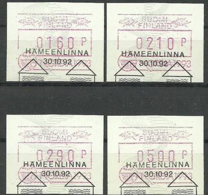 Znaczek Finlandia 1992 Mi aut 13 Stemplowane