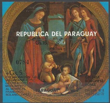 Znaczek Paragwaj 1975 Mi spe bl 237 Czyste **