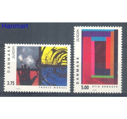 Znaczek Dania 1993 Mi 1052-1053 Czyste **
