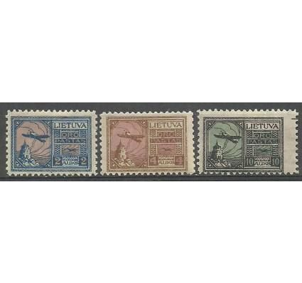 Znaczek Litwa 1922 Mi 121-123 Z podlepką *