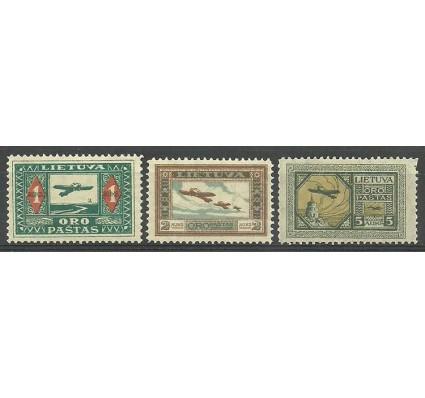 Znaczek Litwa 1921 Mi 106-108 Z podlepką *