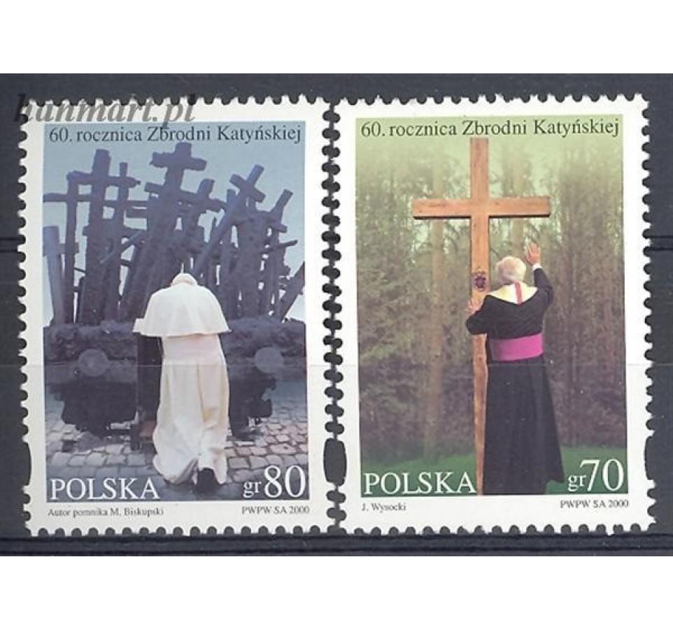 Polska 2000 Mi 3867-3868 Fi 3719-3720 Czyste **
