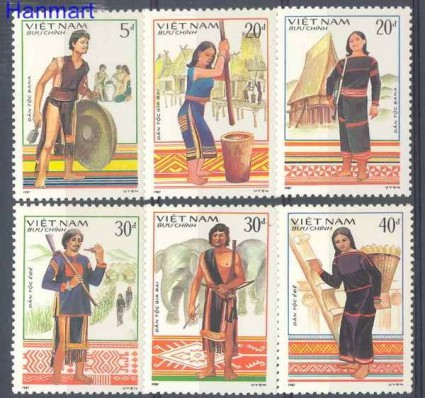 Znaczek Wietnam 1987 Mi 1818-1823 Czyste **