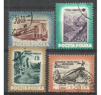 Znaczek Polska 1953 Mi 827C+828-829A Fi 689-692 Stemplowane