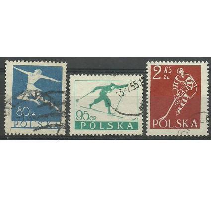 Znaczek Polska 1953 Mi 831-833 Fi 696-698 Stemplowane