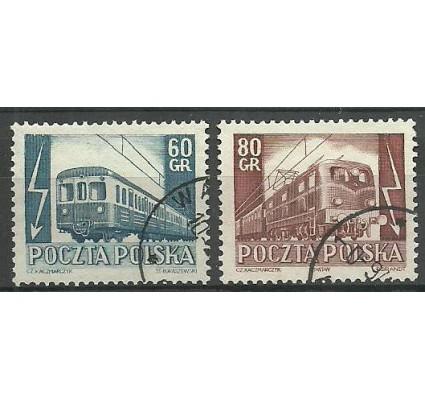 Znaczek Polska 1954 Mi 837-838 Fi 699-700 Stemplowane