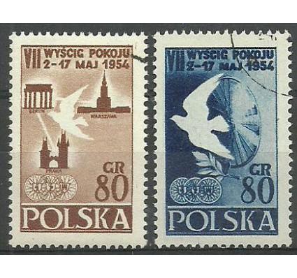 Znaczek Polska 1954 Mi 845-846A Fi 707-708 Stemplowane
