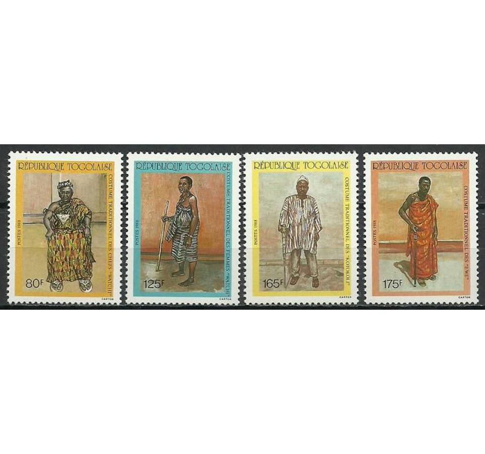 Togo 1988 Mi 2071-2074 Czyste **