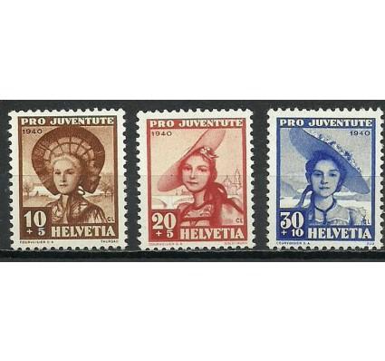 Znaczek Szwajcaria 1940 Mi 374-376 Czyste **