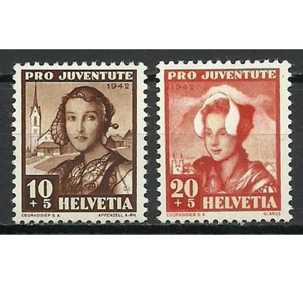 Znaczek Szwajcaria 1942 Mi 413-414 Czyste **