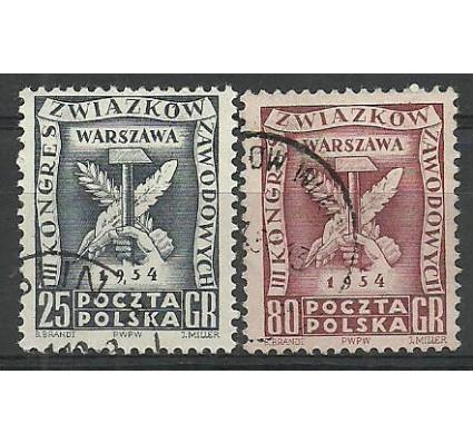 Znaczek Polska 1954 Mi 847-848 Fi 709-710 Stemplowane