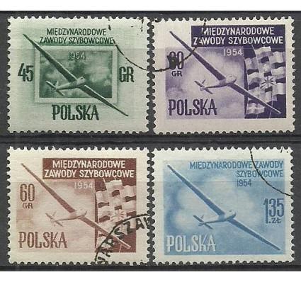 Znaczek Polska 1954 Mi 851+853A+852C+854aA Fi 712-713a,b-714 Stemplowane