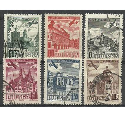 Znaczek Polska 1954 Mi 855A+856C+857-860A Fi 715-720 Stemplowane