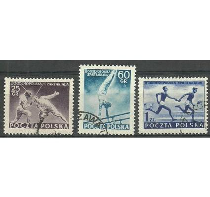 Znaczek Polska 1954 Mi 861-863 Fi 723-725 Stemplowane