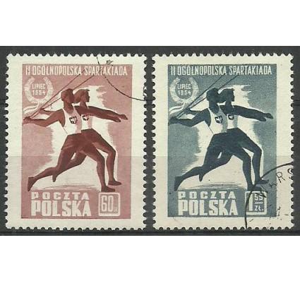 Znaczek Polska 1954 Mi 864-865 Fi 721-722 Stemplowane