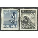 Polska 1954 Mi 868-869A Fi 728-729 Stemplowane